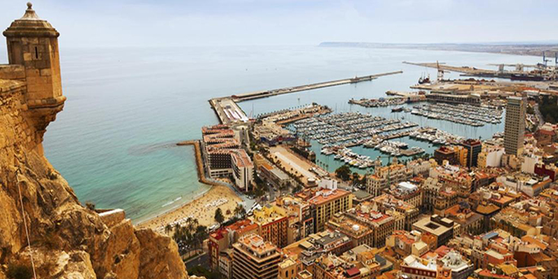 View over port of Alicante - Spain